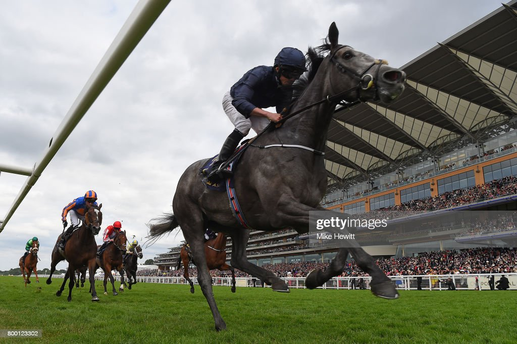 Ryan Moore on Winter wins the Coronation Stakes on Day Four of Royal Ascot at Ascot Racecourse on June 23, 2017 in Ascot, England.