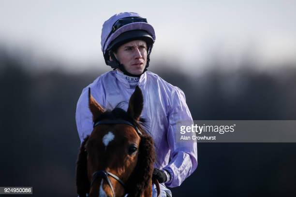Ryan Moore poses at Lingfield Park racecourse on February 27 2018 in Lingfield England