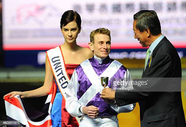 Ryan Moore representing United Kingdom is seen at the Opening Ceremony during the World International Jockey Challenge at Happy Valley Racecourse on...