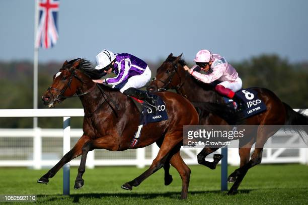 Ryan Moore rides Magical to win The QIPCO British Champions Fillies Mares Stakes during QIPCO British Champions Day at Ascot Racecourse on October 20...
