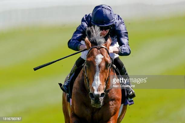 Ryan Moore riding Armory win The Melodi Media Huxley Stakes at Chester Racecourse on May 07, 2021 in Chester, England. Only owners are allowed to...