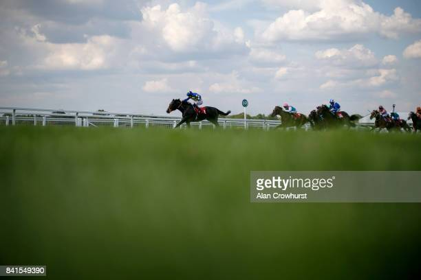 Ryan Moore riding Bathsheba Bay win The British Stallion Studs EBF Maiden Stakes at Sandown Park racecourse on September 1 2017 in Esher England