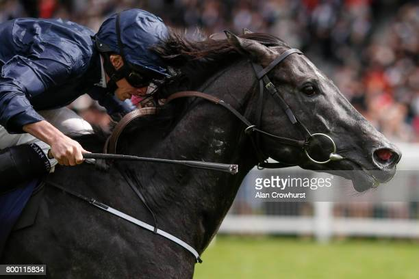 Ryan Moore riding Caravaggio win The Commonwelth Cup on day 4 of Royal Ascot at Ascot Racecourse on June 23 2017 in Ascot England