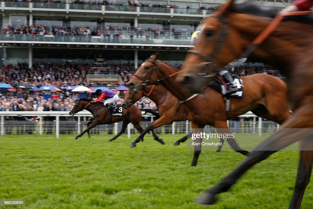 Ryan Moore riding Dartmouth win The Betway Yorkshire Cup at York racecourse on May 19, 2017 in York, England.