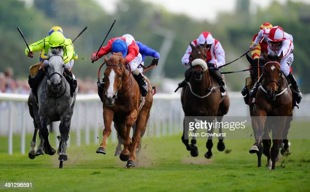 Ryan Moore riding Gospel Choir win The Sky Bet Yorkshire Cup at York racecourse on May 16 2014 in York England