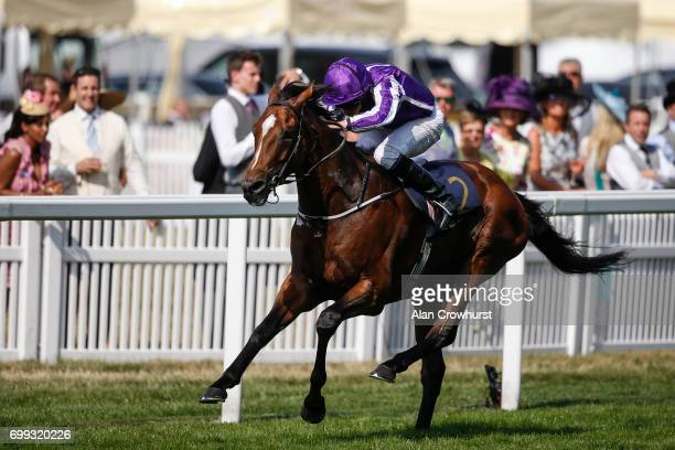 Ryan Moore riding Highland Reel win The Prince of Walesâs Stakes on day 2 of Royal Ascot at Ascot Racecourse on June 21 2017 in Ascot England