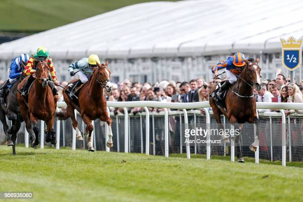 Ryan Moore riding Idaho win The Boodles Diamond Ormonde Stakes at Chester Racecourse on May 10 2018 in Chester United Kingdom