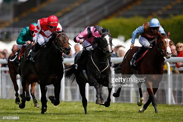 Ryan Moore riding In Haste win The British Stallion Studs EBF Maiden Stakes at Goodwood racecourse on May 21 2015 in Chichester England