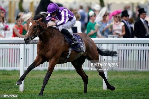 Ryan Moore riding Japan win The King Edward VII Stakes on day four of Royal Ascot at Ascot Racecourse on June 21, 2019 in Ascot, England.