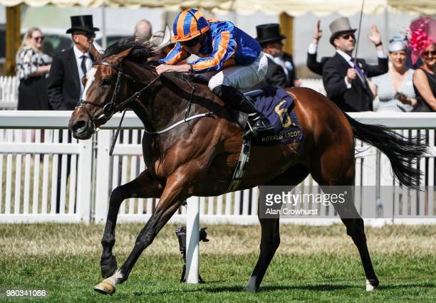 Ryan Moore riding Magic Wand win The Ribblesdale Stakes on day 3 of Royal Ascot at Ascot Racecourse on June 21, 2018 in Ascot, England.