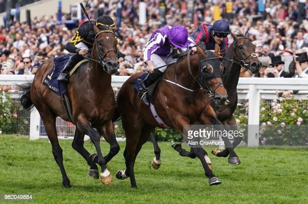 Ryan Moore riding Merchant Navy win The Diamond Jubilee Stakes on day 5 of Royal Ascot at Ascot Racecourse on June 23 2018 in Ascot England