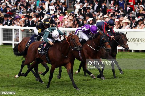 Ryan Moore riding Merchant Navy wins The Diamond Jubilee Stakes on day 5 of Royal Ascot at Ascot Racecourse on June 23 2018 in Ascot England