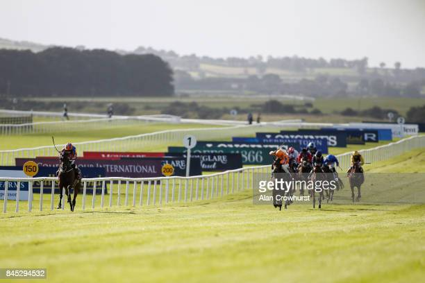 Ryan Moore riding Order Of St George easily win The Comer Group International Irish St Leger at Curragh Racecourse on September 10 2017 in Kildare...