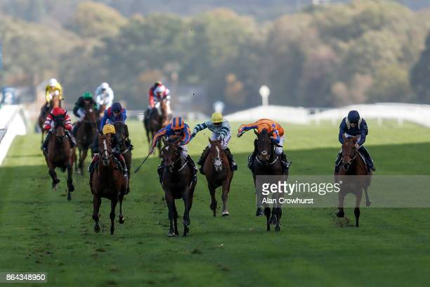 Ryan Moore riding Order Of St George win The Qipco British Champions Long Distance Cup at Ascot racecourse on QIPCO British Champions Day on October...