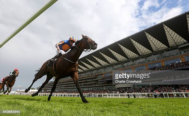 Ryan Moore riding Order of St George wins the Gold Cup in Honour of The Queens 90th Birthday on day 3 of Royal Ascot at Ascot Racecourse on June 16...