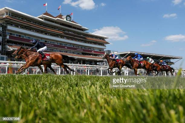 Ryan Moore riding Rhododendron win The Al Shaqab Lockinge Stakes at Newbury Racecourse on May 19 2018 in Newbury United Kingdom