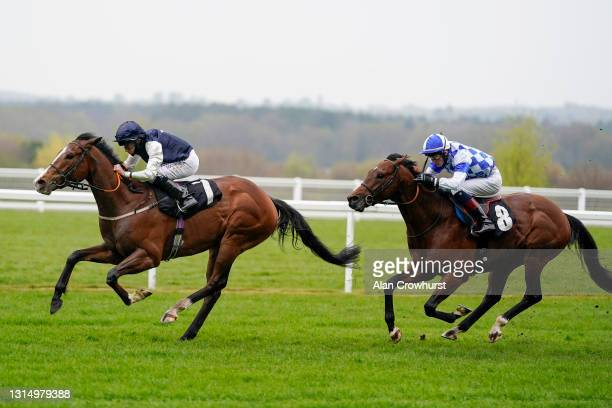 Ryan Moore riding Rohaan win The QIPCO British Champions Series horseracinghof.com Pavilion Stakes at Ascot Racecourse on April 28, 2021 in Ascot,...