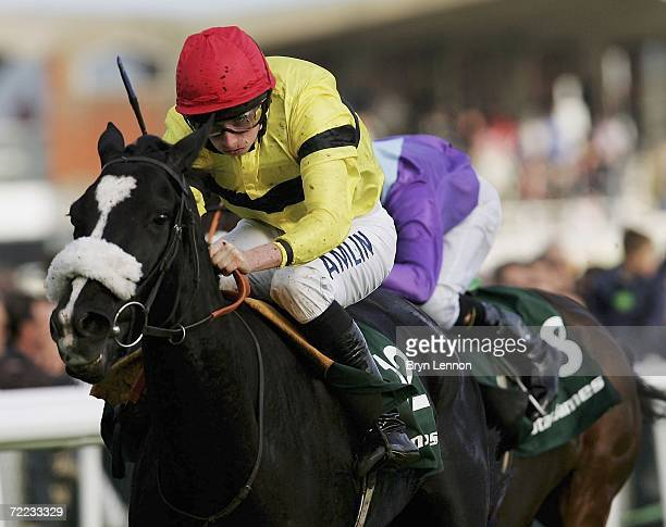 Ryan Moore riding Short Skirt wins the Stan James St Simon Stakes at Newbury Racecourse on October 21 2006 in Newbury England