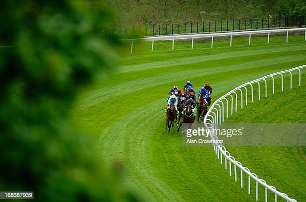 Ryan Moore riding Sir John Hawkwood win The Crabbie's Alcoholic Ginger Beer Handicap Stakes at Chester racecourse on May 09 2013 in Chester England