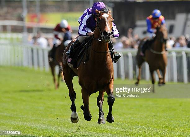 Ryan Moore riding St Nicholas Abbey wins the Boodles Diamond Ormonde Stakes at Chester racecourse on May 06 2011 in Chester England