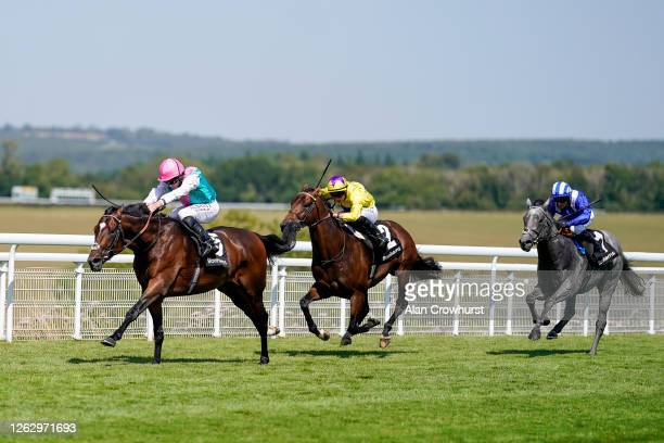Ryan Moore riding Tilsit win The Bonhams Thoroughbred Stakes at Goodwood Racecourse on July 31 2020 in Chichester England Owners are allowed to...
