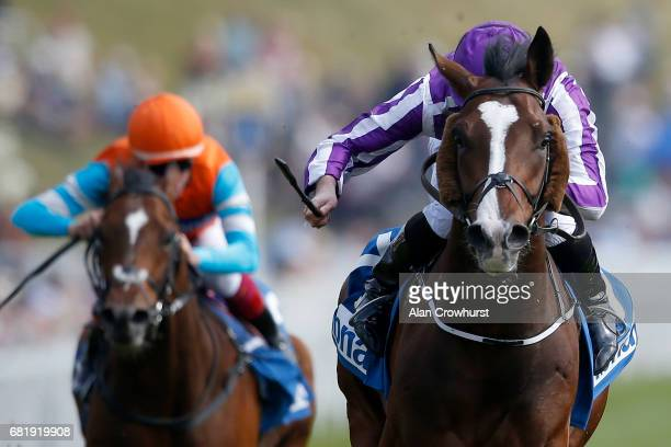 Ryan Moore riding Venice Beach win The MBNA Chester Vase Stakes at Chester Racecourse on May 11 2017 in Chester England
