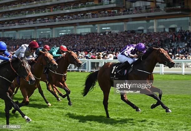 Ryan Moore riding Waterloo Bridge wins The Norfolk Stakes during Day 2 of Royal Ascot 2015 at Ascot Racecourse on June 17 2015 in Ascot England