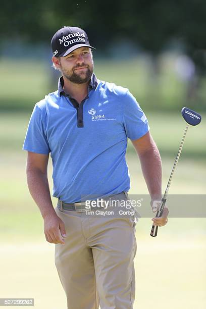 Ryan Moore, USA, in action during the final round of the Travelers Championship at the TPC River Highlands, Cromwell, Connecticut, USA. 22nd June...