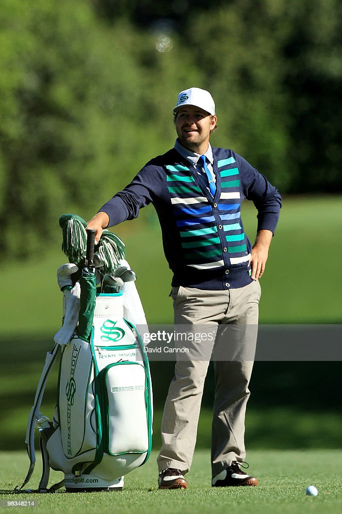 Ryan Moore waits in a fairway during the second round of the 2010 Masters Tournament at Augusta National Golf Club on April 9, 2010 in Augusta, Georgia.