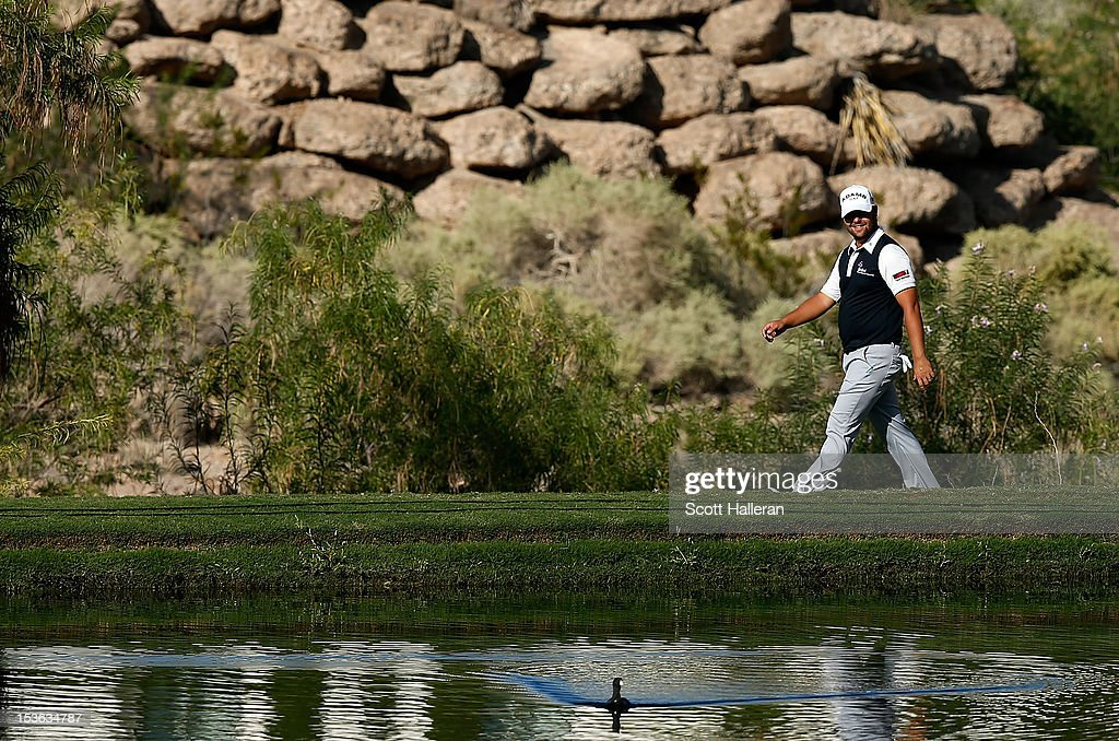 Ryan Moore walks to the 18th fairway during the final round of the Justin Timberlake Shriners Hospitals for Children Open at TPC Summerlin on October 7, 2012 in Las Vegas, Nevada.