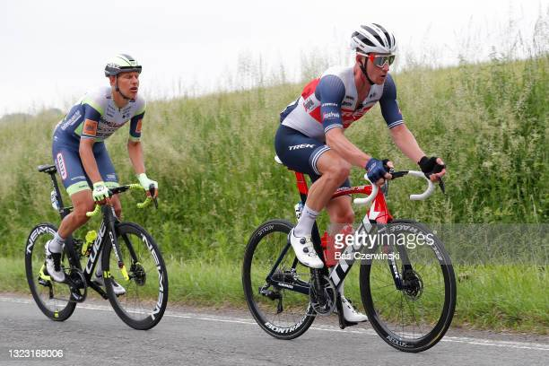 Ryan Mullen of Ireland and Team Trek - Segafredo in the Breakaway during the 90th Baloise Belgium Tour 2021, Stage 4 a 152,7km stage from Hamoir to...