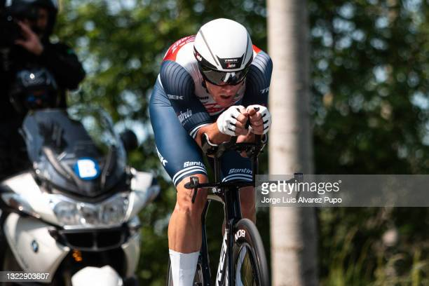 Ryan Mullen of Ireland and Team Trek-Segafredo competes during the 90th Baloise Belgium Tour 2021, Stage 2 a 11,2km Individual Time Trial stage from...