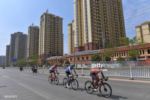 Ryan Mullen of Ireland and Team Trek-Segafredo / Hamish Schreurs of New Zealand and Team Israel Cycling Academy / Yin Wang Mei of China and Team...