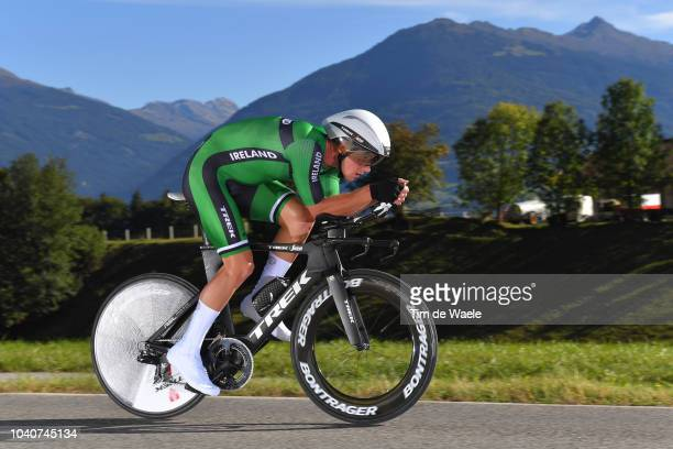 Ryan Mullen of Ireland / during the Men Elite Individual Time Trial a 525km race from Rattenberg to Innsbruck 582m at the 91st UCI Road World...