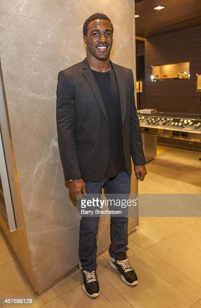 Ryan Mundy attends the David Yurman store with Jon Bostic as host for an instore event to celebrate the launch of the Men's Forged Carbon Collection...