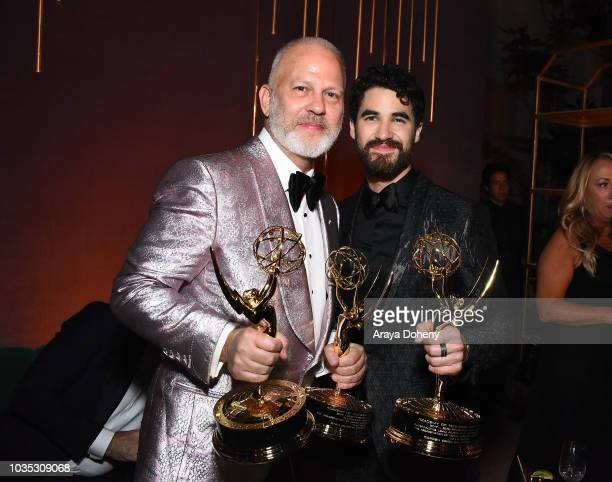 Ryan Murphy and Darren Criss attend FOX Broadcasting Company FX National Geographic and 20th Century Fox Television 2018 Emmy Nominee Party at...
