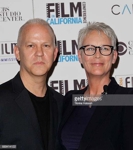 Ryan Murphy and Jamie Lee Curtis attend the 9th annual Film In California Conference at CBS Studios on May 21 2016 in Los Angeles California