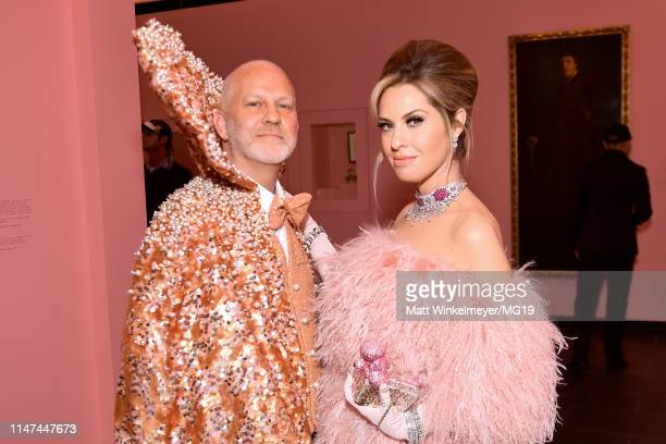 Ryan Murphy and Leslie Grossman attend The 2019 Met Gala Celebrating Camp Notes on Fashion at Metropolitan Museum of Art on May 06 2019 in New York...