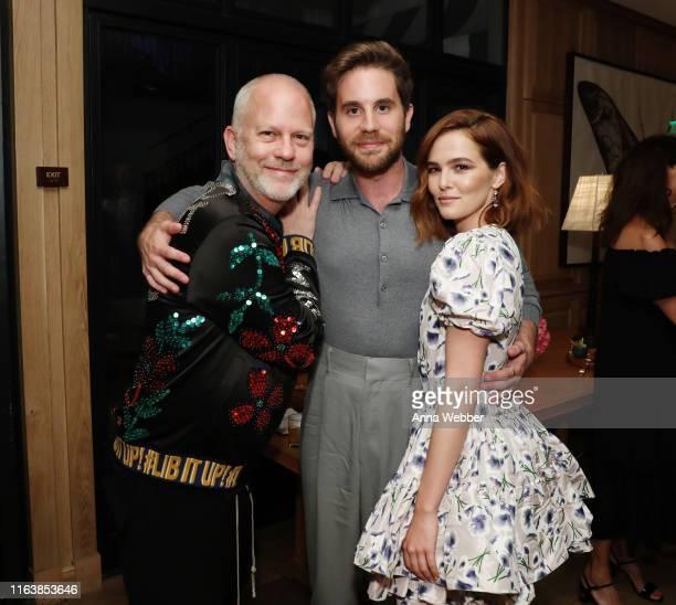 Ryan Murphy Ben Platt and Zoey Deutch attend Netflix's The Politician ‑ LA Tastemaker at San Vicente Bungalows on July 23 2019 in West Hollywood...