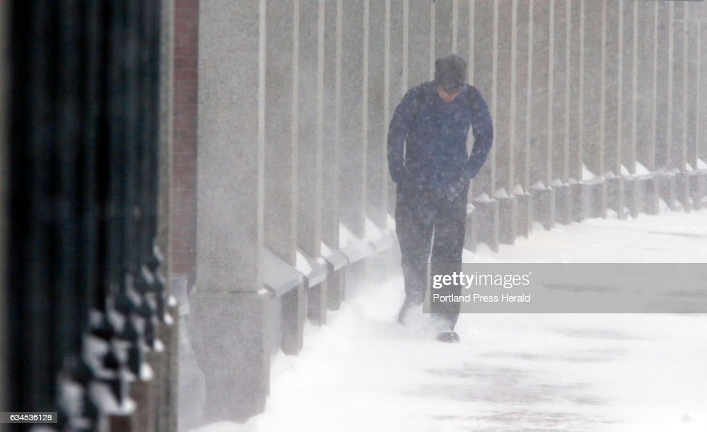 Driven By Winter Wind >> Ryan Murphy Of Portland Braes Against Wind Driven Snow On News