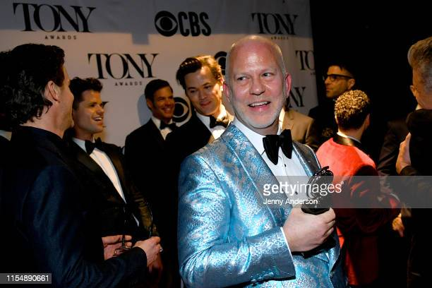 Ryan Murphy poses backstage at the 73rd Annual Tony Awards at Radio City Music Hall on June 09 2019 in New York City