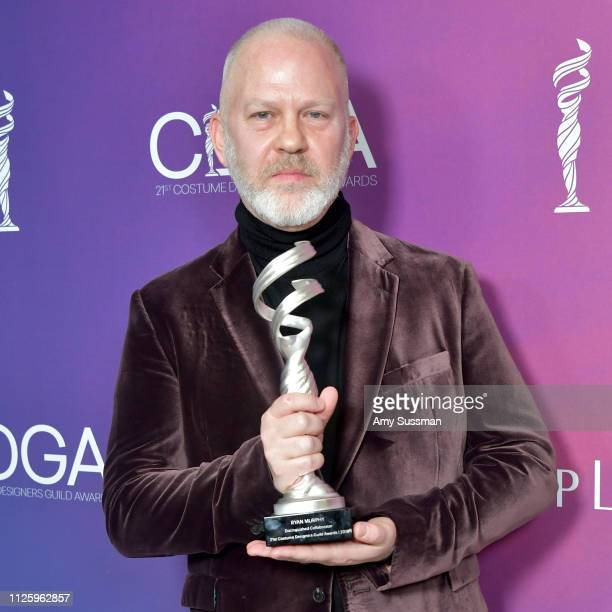 Ryan Murphy recipient of the Distinguished Collaborator Award attends The 21st CDGA at The Beverly Hilton Hotel on February 19 2019 in Beverly Hills...