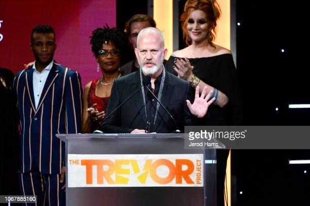 Ryan Murphy speaks onstage during the Trevor Project's TrevorLIVE LA 2018 at The Beverly Hilton Hotel on December 3 2018 in Beverly Hills California