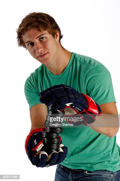 Ryan Murray of the Columbus Blue Jackets poses for an NHLPA The Players Collection portrait at The Westin Harbour Castle hotel on August 27 2012 in...