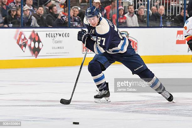 Ryan Murray of the Columbus Blue Jackets skates against the Calgary Flames on January 21 2016 at Nationwide Arena in Columbus Ohio