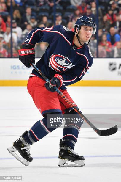 Ryan Murray of the Columbus Blue Jackets skates against the Chicago Blackhawks on October 20 2018 at Nationwide Arena in Columbus Ohio Chicago...