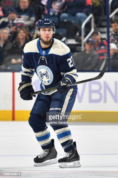 Ryan Murray of the Columbus Blue Jackets skates against the Florida Panthers on November 15 2018 at Nationwide Arena in Columbus Ohio