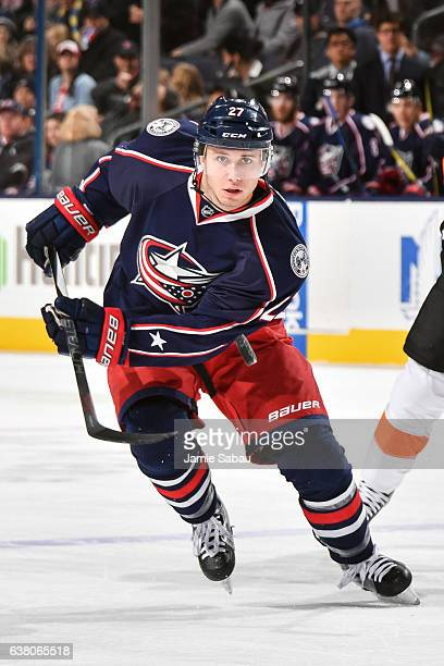 Ryan Murray of the Columbus Blue Jackets skates against the Philadelphia Flyers on January 8 2017 at Nationwide Arena in Columbus Ohio