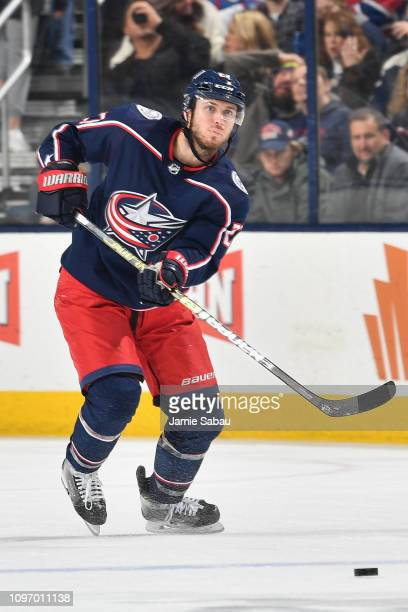 Ryan Murray of the Columbus Blue Jackets skates against the Montreal Canadiens on January 18 2019 at Nationwide Arena in Columbus Ohio