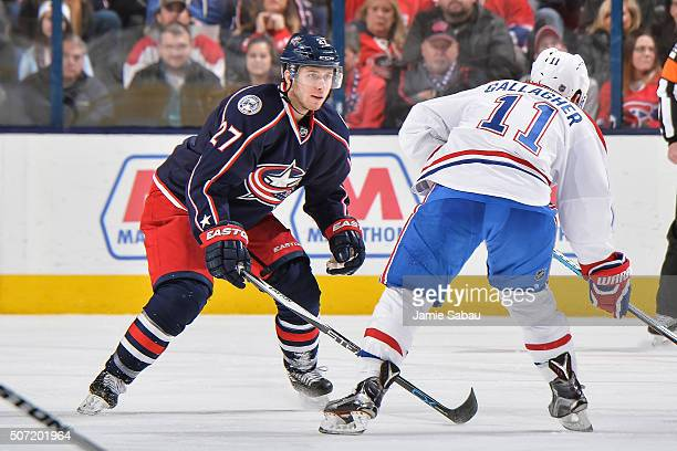 Ryan Murray of the Columbus Blue Jackets skates against the Montreal Canadiens on January 25 2016 at Nationwide Arena in Columbus Ohio